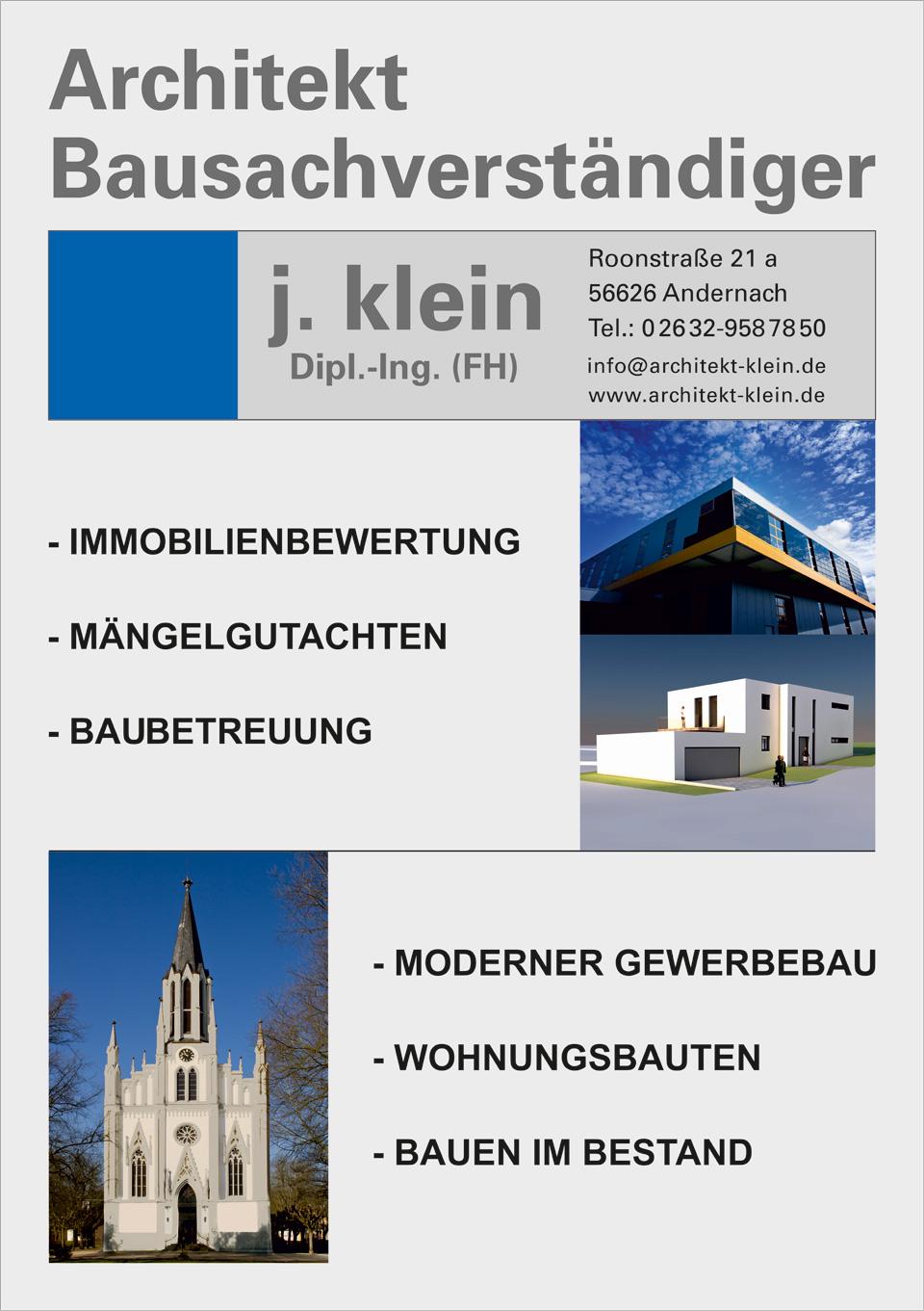 Architekt Klein in Andernach